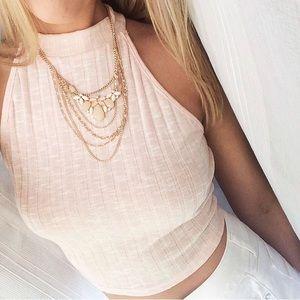 Pink crop top, Charlotte Russe
